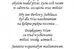 tekst na jubileusz 8