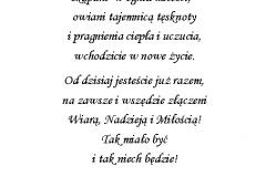 tekst na slub 4