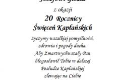tekst rocznica, prymicje dla ksiedza 1