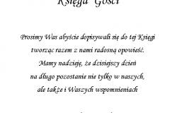 tekst na ksiege gości 6