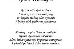 tekst na ksiege gości 8