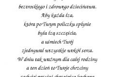 tekst na chrzest 10