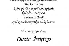 tekst na chrzest 2