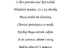 tekst na chrzest 5