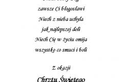 tekst na chrzest 7