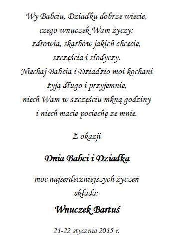 4dzień Babci I Dziadka Unikatowe Prezenty