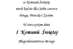 tekst na komunie 4