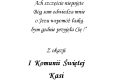 tekst na komunie 8