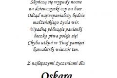 tekst na kawalerski 8