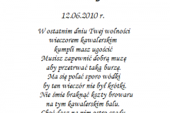 tekst na kawalerski 9