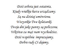 tekst na panienski 2