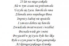 tekst na panienski 5